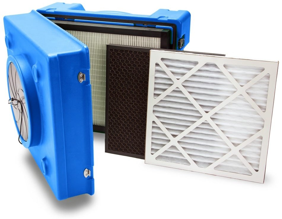 Commercial Air Scrubber and Filters